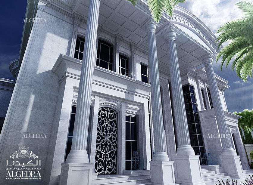 Beautiful palace exterior exterior residential design for Exterior classic design