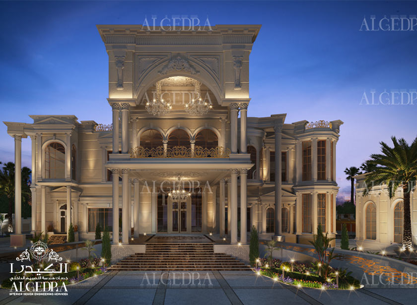 Algedra interior and exterior design uae modern majlis for Classic villa interior design