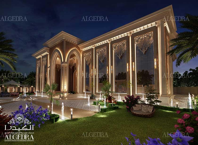 Exterior design gallery best villa exteriors by algedra for Palace design homes