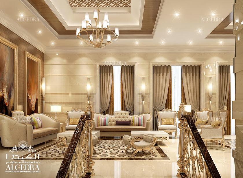 Majlis interios design photos by algedra interior uae for Classic furniture uae