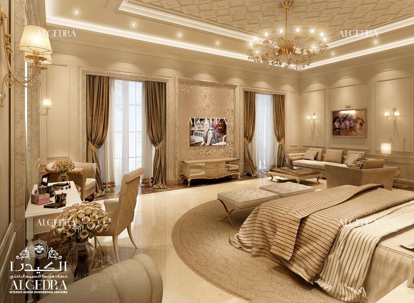 تصميم غرفة نوم رئيسية فخمة   الداخلي من الكيدرا