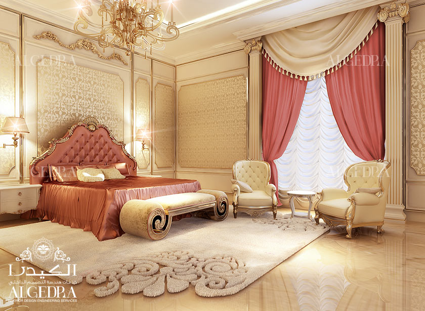 Luxury master bedroom design interior decor by algedra for Photo gallery of interior designs