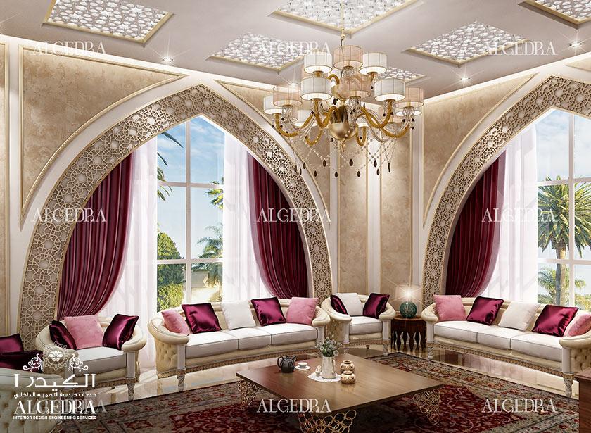Majlis interios design photos by algedra interior uae for Islamic interior design ideas