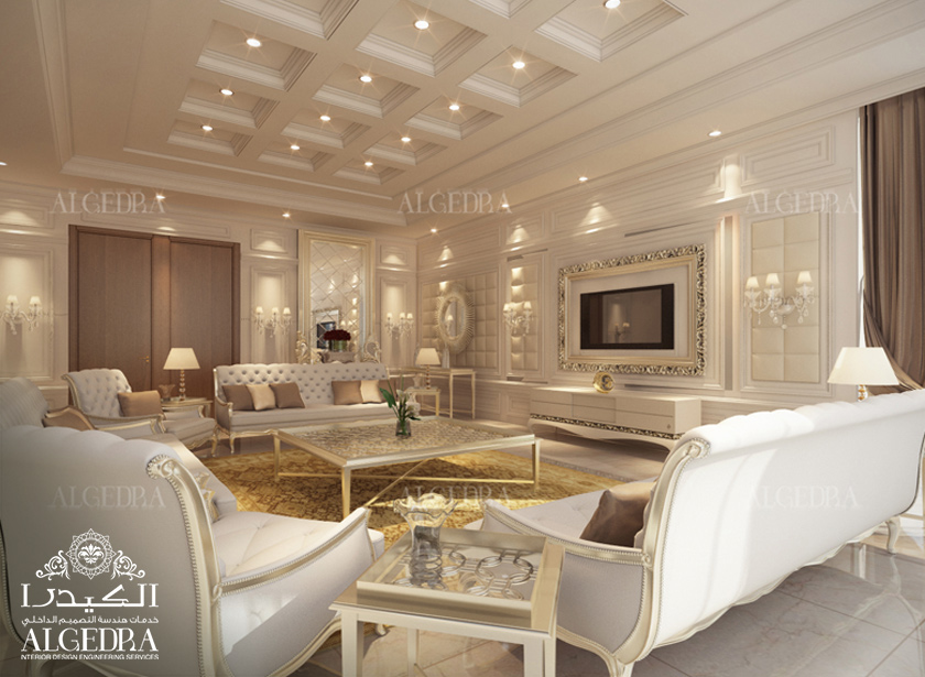 Men majlis interior design by algedra majlis design services for Modern english interior design