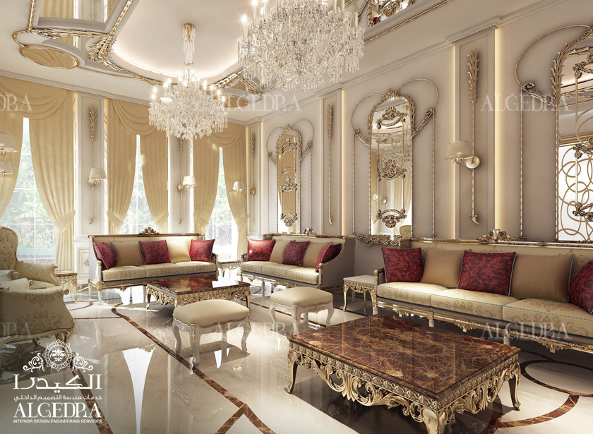 Men majlis interior design by algedra majlis design services for Arabic living room decoration