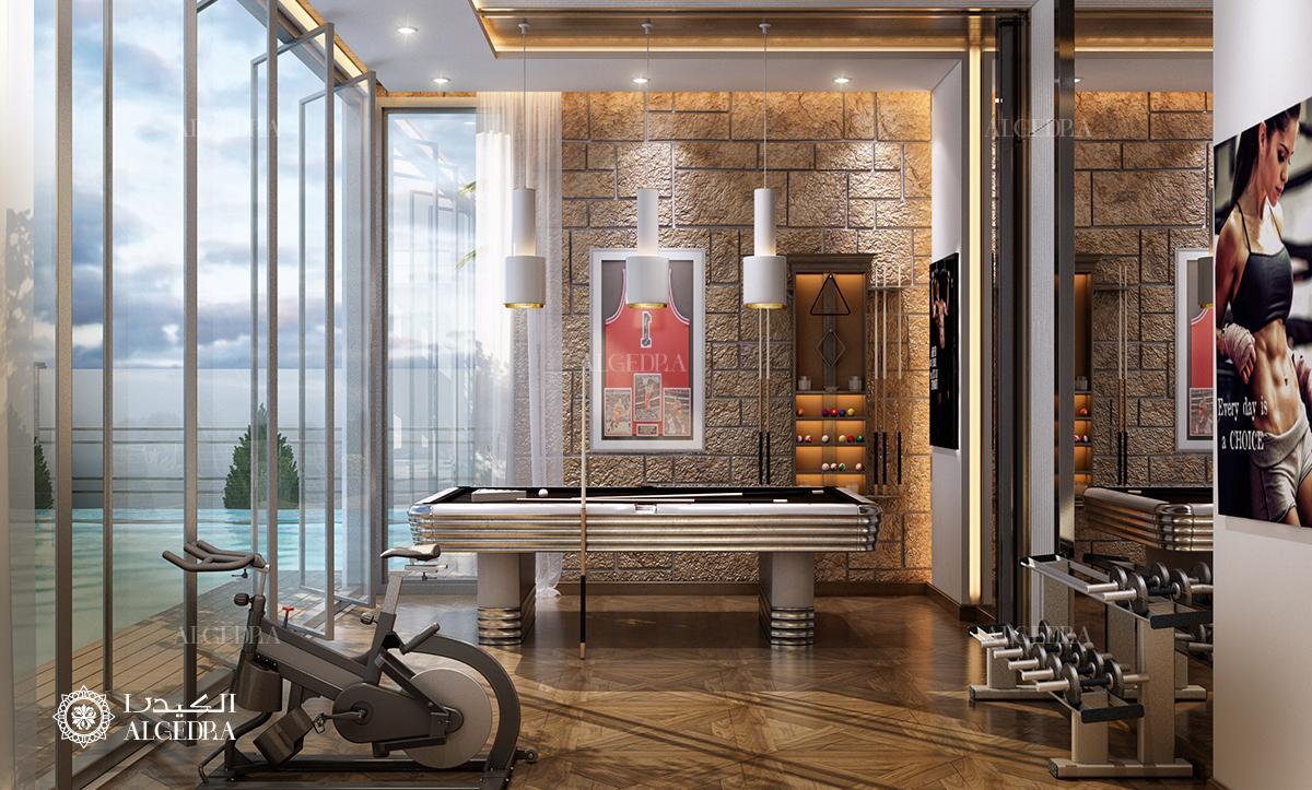 Interior design for gym