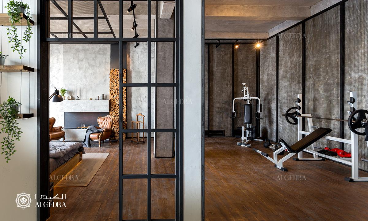 Interior design for gym at home