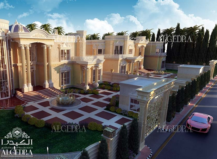 Interior landscape design services in uae algedra interior for Landscape villa design