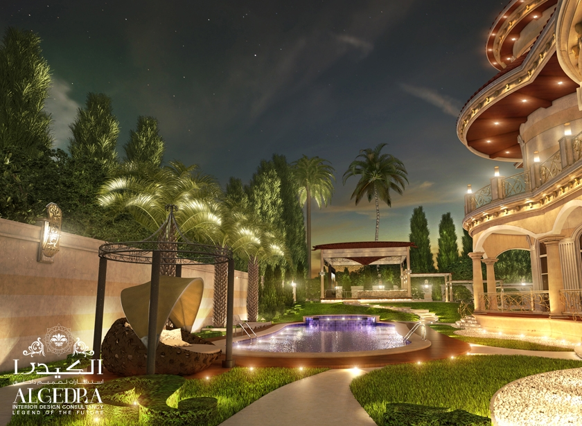 Garden landscape and swimming pool designs by algedra interior for Manapat interior landscape designs