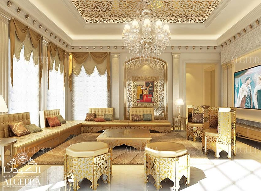 Majlis design arabic majlis interior design for Arabic living room decoration
