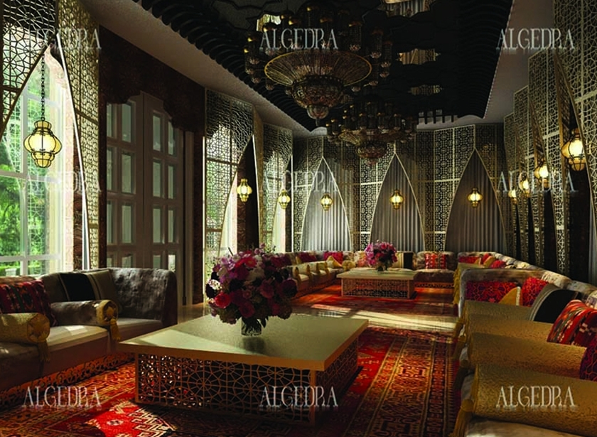 Majlis design arabic majlis interior design for Dubai villa interior design office