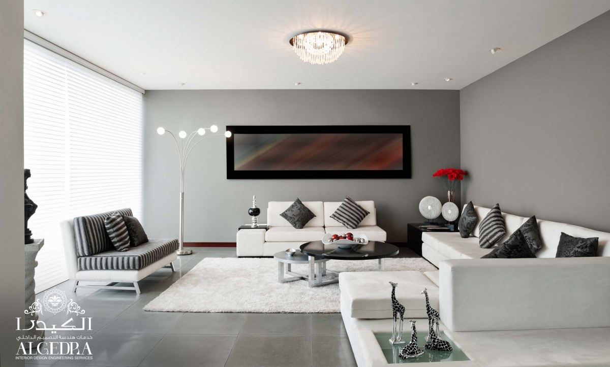 contemporary family sitting room