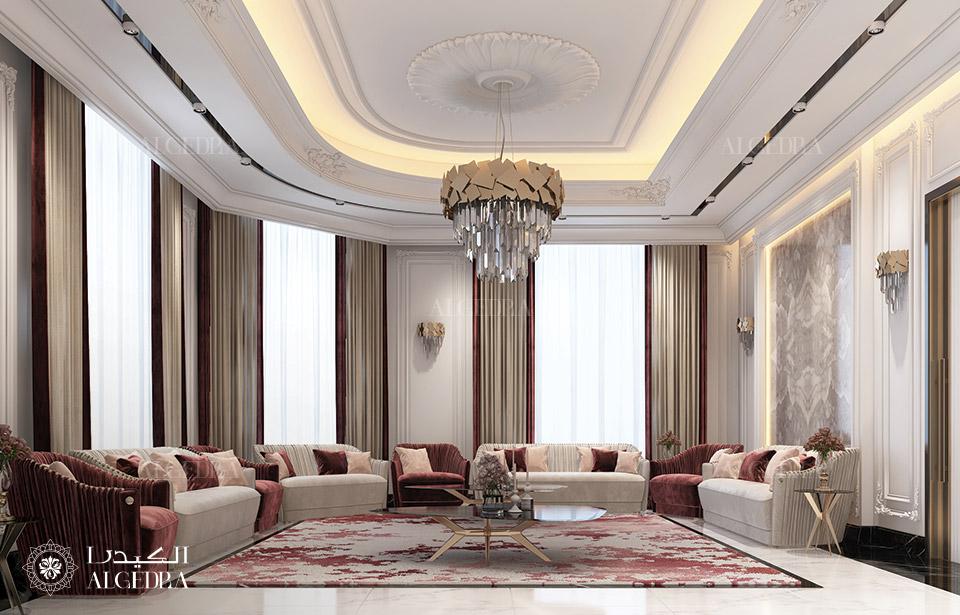 التصميم داخلي لغرفة المعيشة