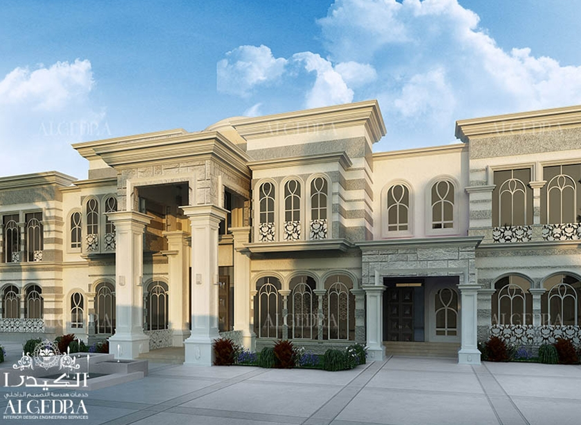 Beautiful palace exterior exterior residential design for Best hotel exterior design
