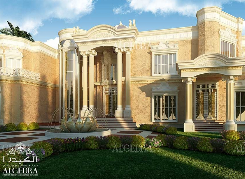 Beautiful palace exterior exterior residential design for Villas exterior design pictures