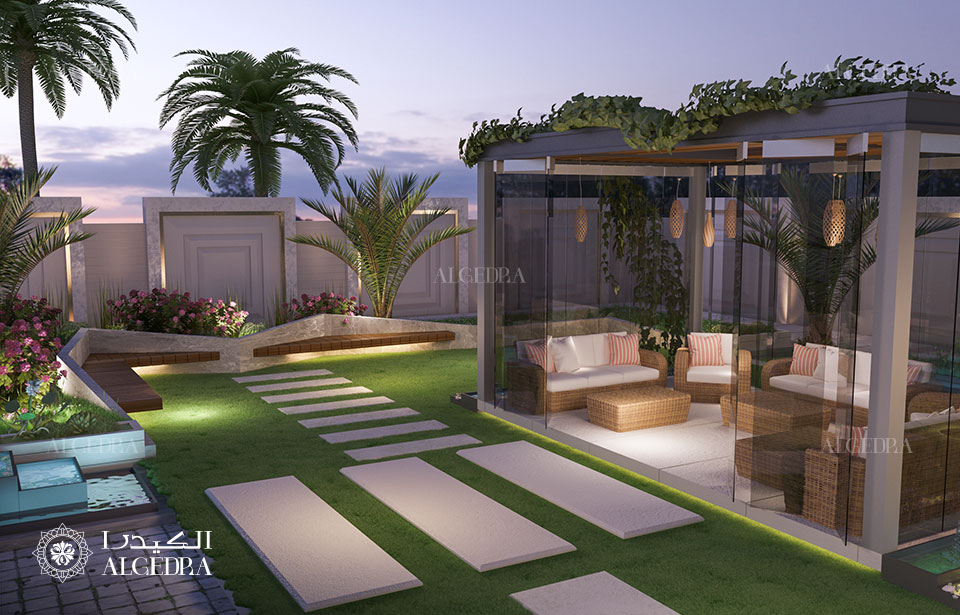 lavishing villa garden design
