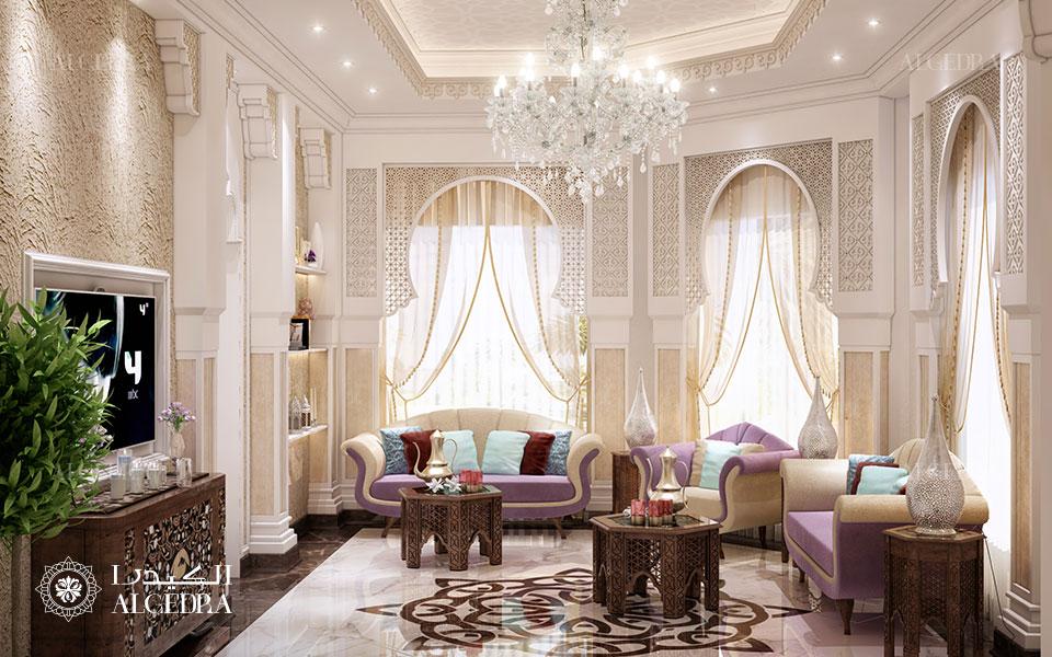 تصميم غرفة جلوس عائلية